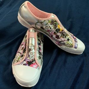 Ed Hardy Skull Love Kills Slowly Sneakers Size 7